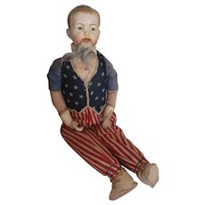 "Wonderful Large 32"" Patriotic Uncle Sam Doll"