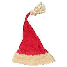 Vintage Felt Santa Claus Doll Hat for Composition Doll