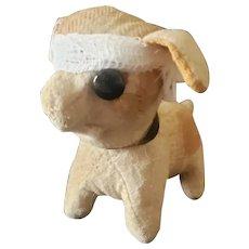 Poor Injured One Eyed Excelsior Stuffed Squeaker Dog