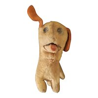 Vintage Felt & Excelsior Stuffed Squeaker Dog Doll Companion