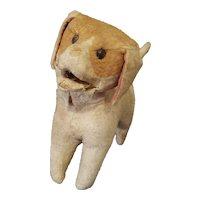 "Vintage Excelsior Stuffed Squeaker Dog Doll Companion 7 1/2"""