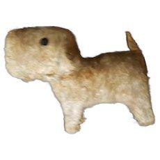Cute Vintage Mohair Salon Dog Squeaker Toy Doll Companion