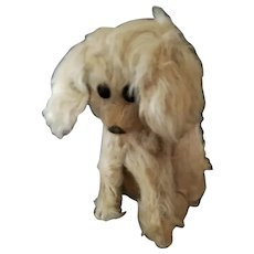 1920's Musical Jopi Squeeze Tummy Mohair Dog