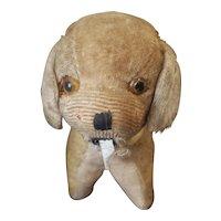 """Vintage Excelsior Stuffed Dog Tape Measure 5"""""""