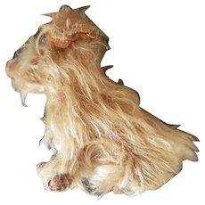 Adorable Miniature Bing Farnell or Chiltern Mohair Dog Doll Companion