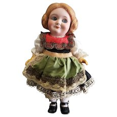 "Wonderful 9"" Bisque Head Demalcol Googly Doll"