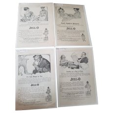 Set of Four 1912 Rose O'Neill Advertisement Jello Ad's