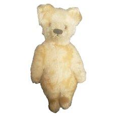 """Vintage 1940's Steiff 6"""" Gold Mohair Teddy Bear with Button"""