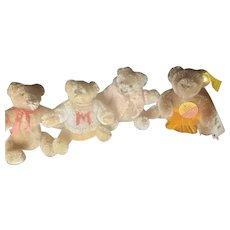 Vintage Lot of Steiff Mohair Bendy Teddy Bears