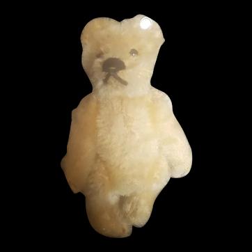 """Adorable 1940's Steiff 3 1/2"""" Mohair Teddy Bear With Button"""