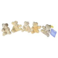 "Vintage Steiff 3"" Bendy Teddy Bear Lot"