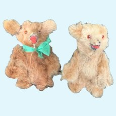 Vintage Furry Made in West Germany Miniature Teddy Bears 2""