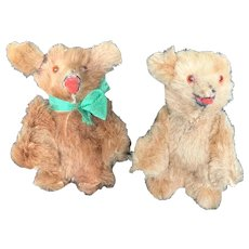 "Vintage Furry Made in West Germany Miniature Teddy Bears 2"""