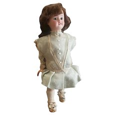 Antique French Roulett DeCamps Bisque Head Doll Girl with Cart Automaton