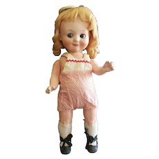 "Adorable 10 3/4"" A.M 323 Bisque Head Googly Doll"