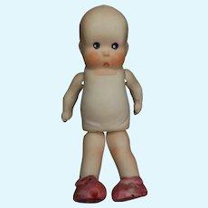 "Vintage All Bisque Japan Heebee Sheebee Doll 4 1/4"""