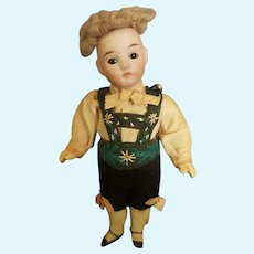 "Vintage Germany Bisque Head 5"" Doll All Original"