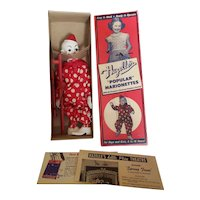 Minty Mint 1950's Hazelle's Teto The Clown Marionette Doll in Box