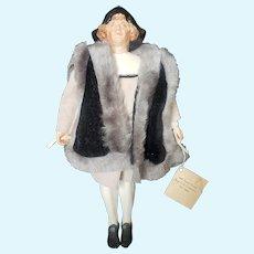 "Vintage Artist Kathy Redmond 1992 Bisque Christopher Columbus Doll 12 1/2"""