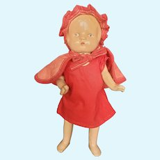 """Cute 1930's Composition 9 1/2"""" Girl Doll"""