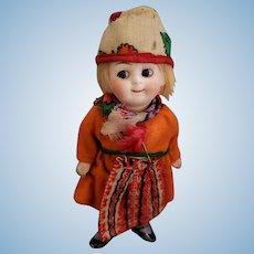 Vintage All Bisque Kestner Googly Doll