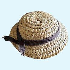 Nice Vintage Straw Doll Hat