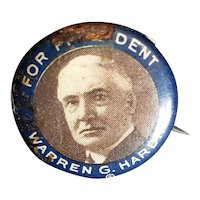 1920's Warren Harding for President Pin for Doll or Teddy Bear