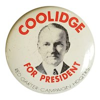 1920's Collidge for President Pin for Doll or Teddy Bear