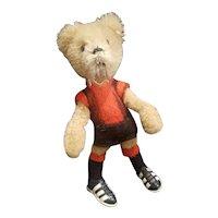 "Vintage 1940's Schuco 4"" Mohair Soccer Teddy Bear"
