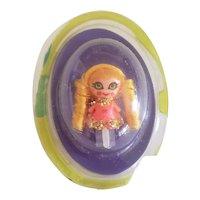 1968 Mattel Liddle Kiddles Gretel Pop-up Doll in Bubble