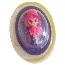 1968 Mattel Liddle Kiddles Soda Parlor Kutie Pop-up Doll in Bubble