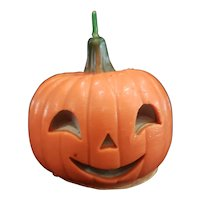 Cute Vintage Gurley Halloween Pumpkin Candle for Doll Display