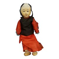 Vintage Paper Mache and Cloth Chinese Doll