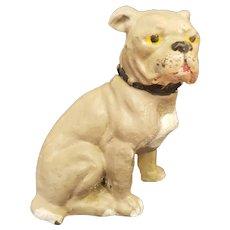 Vintage Painted Metal Bulldog Doll Companion