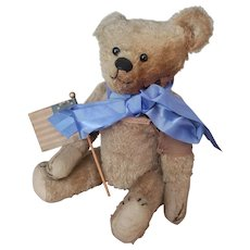 """Early 1900's Ideal Mohair 19"""" Teddy Bear Veteran"""