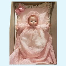 Vintage Bisque Head Dream Baby Doll with Matching Pillow & More