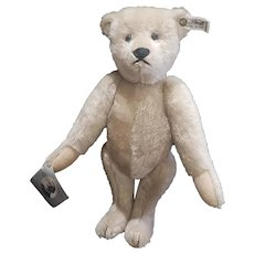 "Vintage Richard Steiff 12"" Grey Teddy Bear"