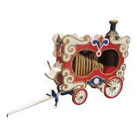 Vintane Wooden Circus Wagon Calliope for Doll or Steiff Display