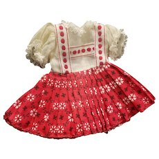 """1950's Ideal 12"""" Vinyl Shirley Temple Doll Tagged Dress"""