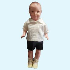 """Minty 1927 Grace Corry Rockwell 13 3/4"""" Averill Composition Little Brother Doll"""