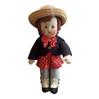 "1938 Madame Alexander Cloth 13"" Bobby Q Doll"