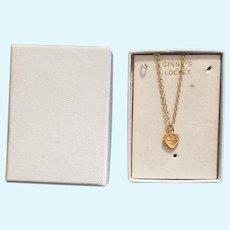Vintage Vogue Ginny Doll Locket Necklace in Original Box