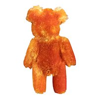 "Fabulous 2 3/4"" Rust Orange Schuco Mohair Teddy Bear"