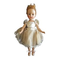 """1940's Madame Alexander 14"""" Ballerina Doll Very Pretty"""