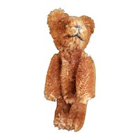 Vintage Schuco Miniature Chocolate Brown Mohair Teddy Bear 3 1/2""