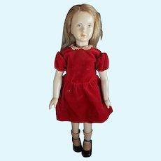 "1947 Dewees Cochran 15"" American Cinderella Cindy Latex Doll Numbered"