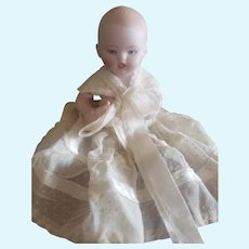 Vintage All Bisque Germany Baby Doll with Bottle