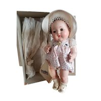 """Museum Quality 1937 Madame Alexander 11 1/2"""" Dionne Quintuplet Yvonne Doll Mint in Box"""
