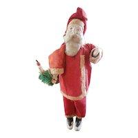 "Interesting Vintage Composition Santa Claus Doll 9 3/4"""
