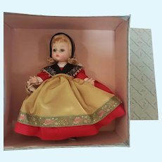 1960's Madame Alexander #392 Swedish Bent Knee Walker Doll in Box
